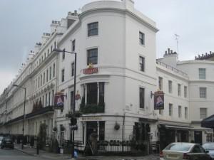 The Victoria, Londons mysigaste pub där jag tillbringade en vecka på författarkurs i februari 2012, tillsammans med ett gäng sköna författarkollegor en vecka i februari.