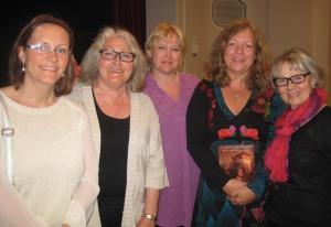 Från vänster till höger: jag, AnnChristin Winnermyhr, Susanne Ahlenius, Ann Ljungberg och Birgitta Fernström.