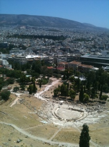 Utsikt från Akropolis.