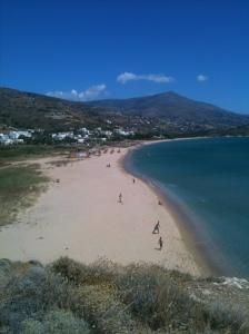 Så här fint var det på ön Andros, 2 timmars båtresa från fastlandet.