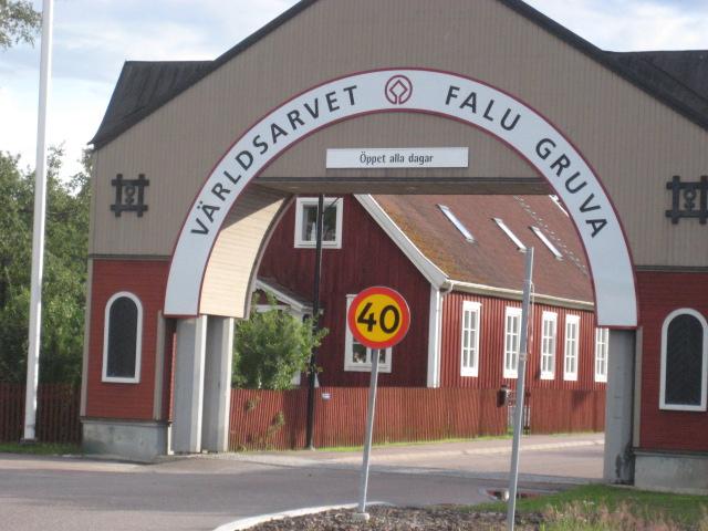 Portalen in till Falu Koppargruva