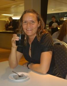 Minna Ulin som har skrivit boken Skuggplats. Minna är också en de av Victoriagänget.